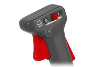 Mitox PRO Brushcutter controls